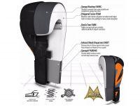 RDX Boxerské rukavice REX F12 (16oz) - oranžová /šedivá