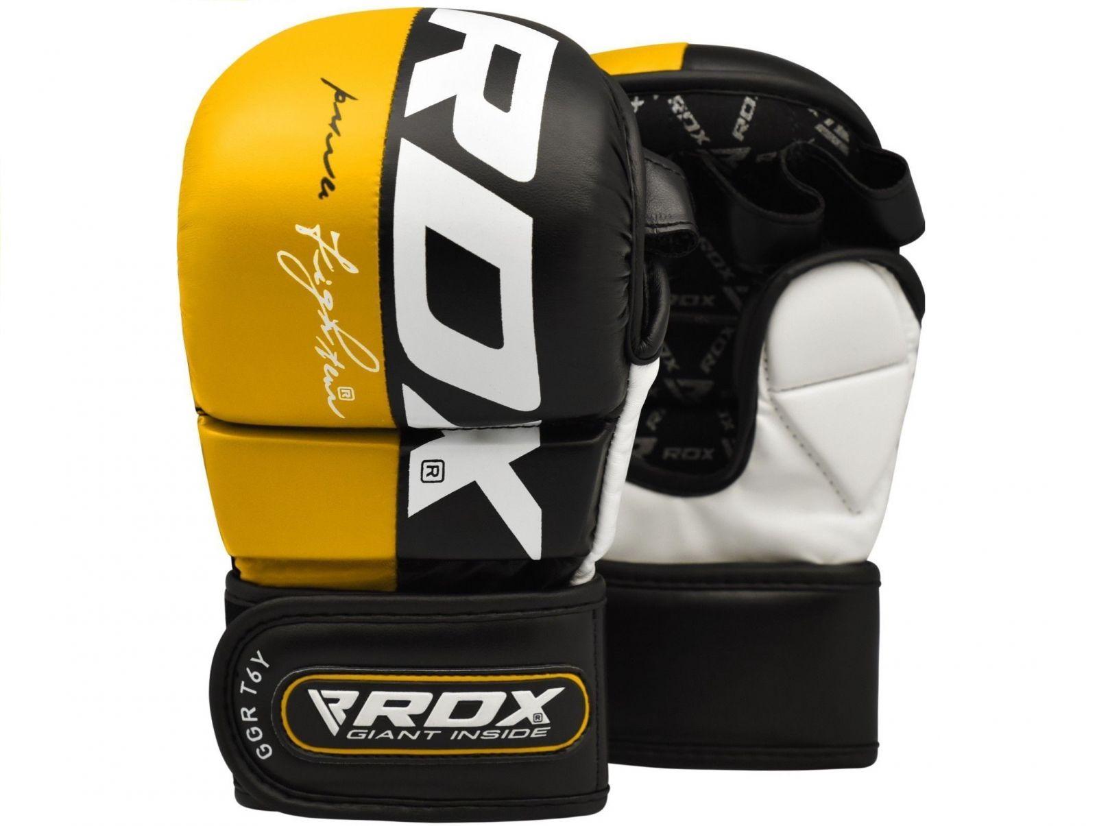 RDX MMA Rukavice REX T6 - žlutá