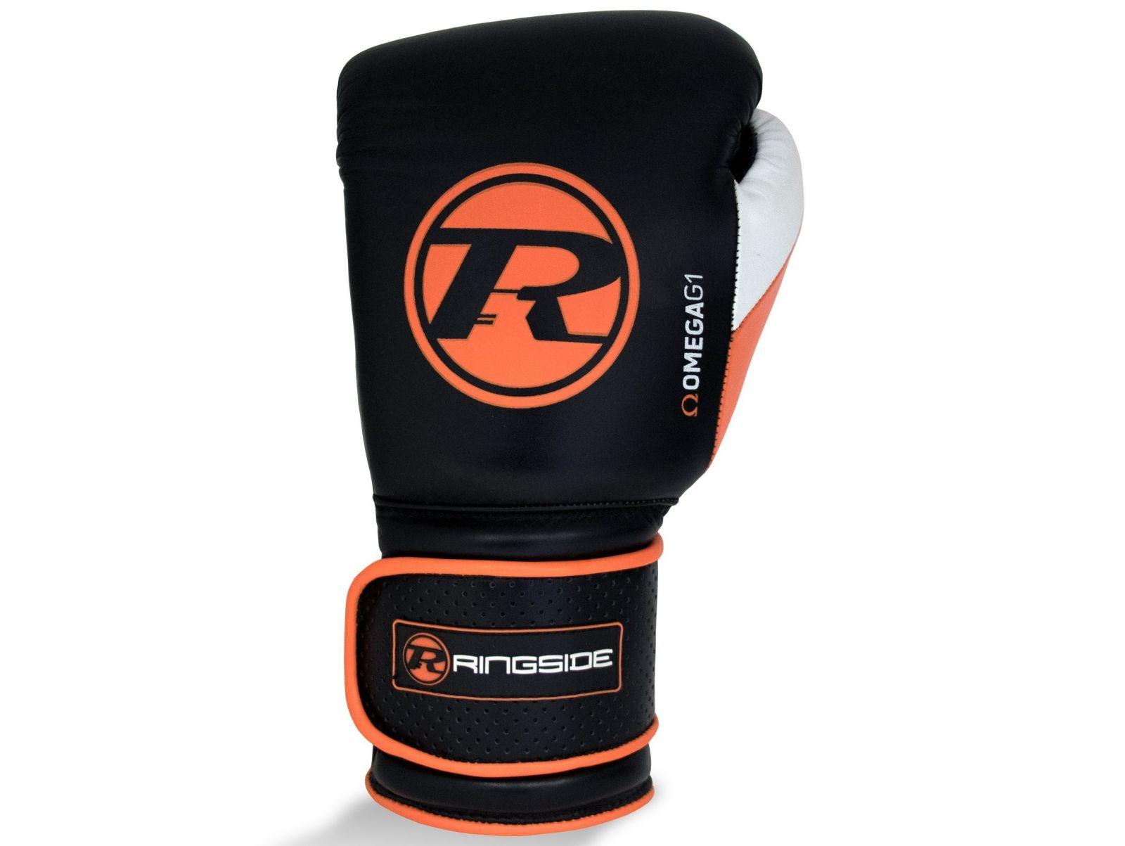 RINGSIDE Boxerské rukavice Omega G1 Ultra Pro Spar (16oz) - černá/tiger orange