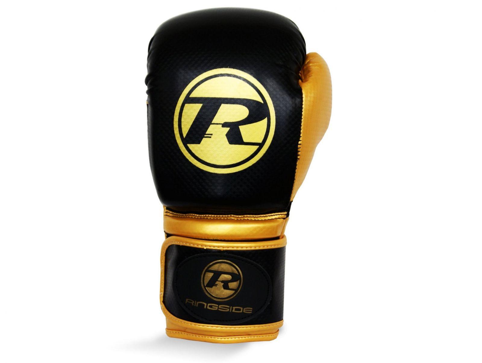 RINGSIDE Boxerské rukavice Pro Fitness (16oz) - zlatá/černá