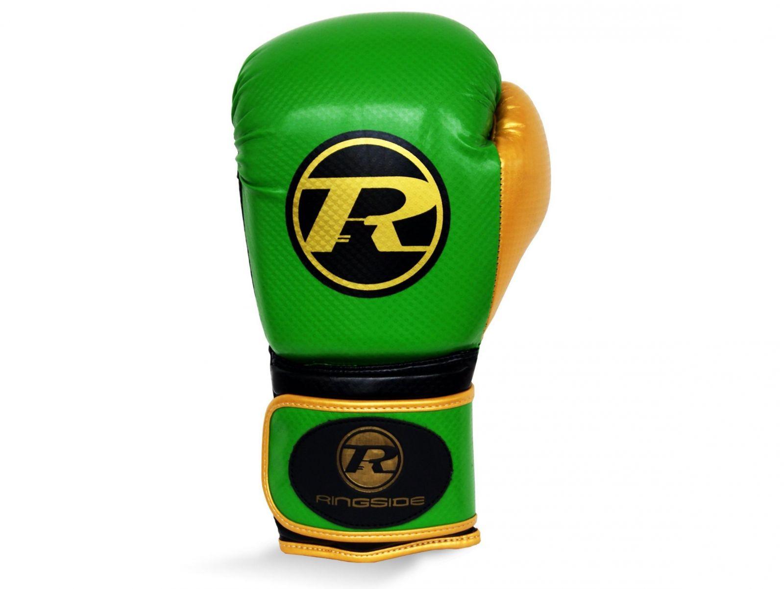 RINGSIDE Boxerské rukavice Pro Fitness (16oz) - zelená/zlatá