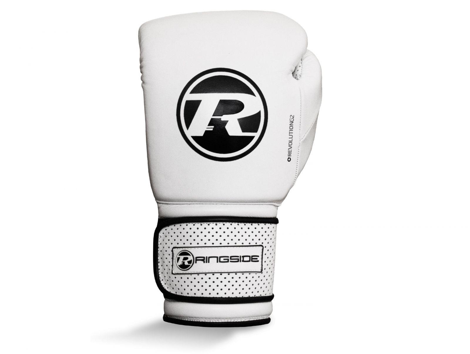 RINGSIDE Boxerské rukavice Revolution G2 Super Pro Spar (16oz) - bílá