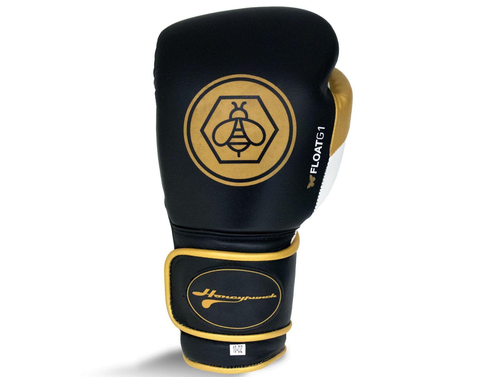 RINGSIDE Boxerské rukavice Honey Punch Float G1 (16oz) - černá/zlatá