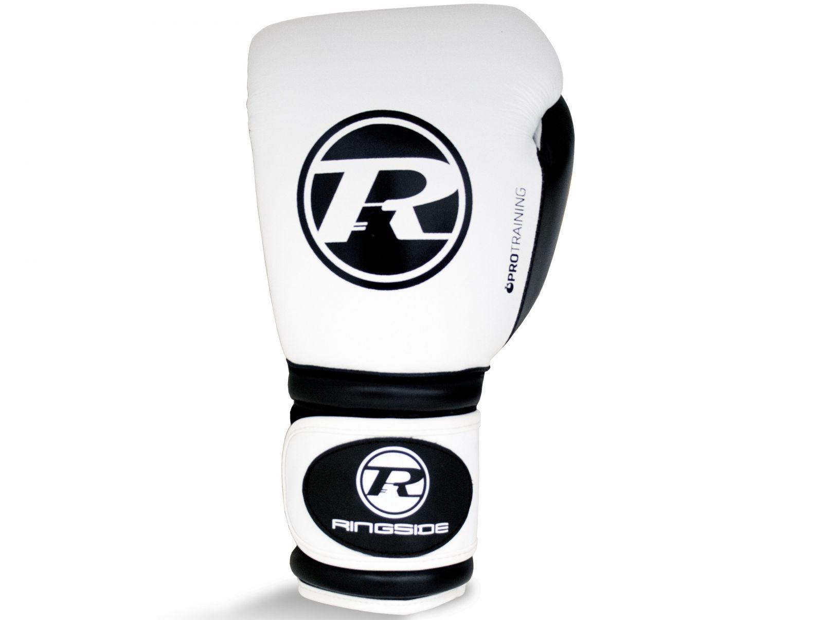 RINGSIDE Boxerské rukavice Pro Training G1 (16oz) - bílá/černá