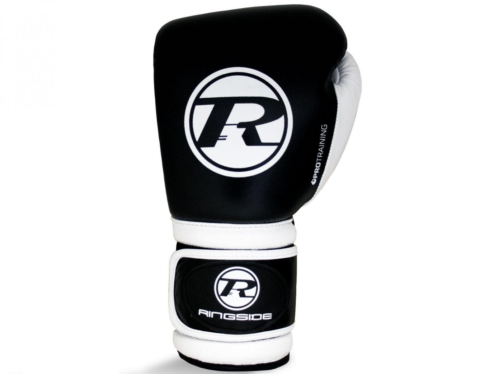RINGSIDE Boxerské rukavice Pro Training G1 (16oz) - černá/bílá
