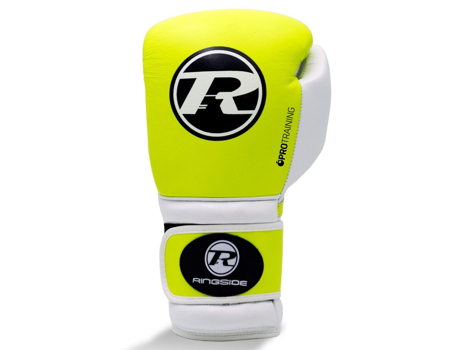 RINGSIDE Boxerské rukavice Pro Training G1 (16oz) - volt/bílá/černá